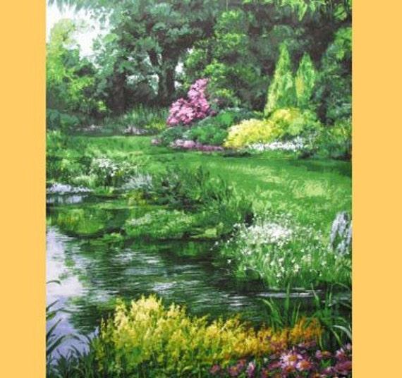 Park Landscape Fabric Panel By Michael Miller