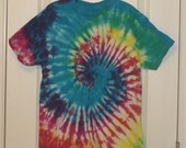 TieDye T shirt Multicolored Spiral RESERVED for fr3ckles