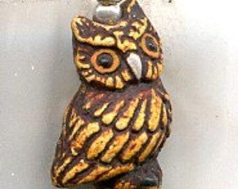 Brown Owls Sterling Silver Earrings