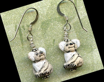 Koala Bears Sterling Silver Earrings
