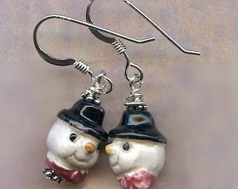 Snow Friends Sterling Silver Earrings