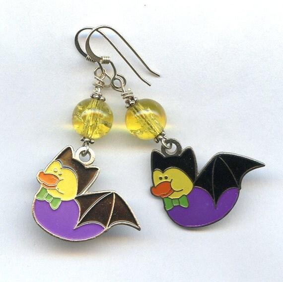 Batty Duck Sterling Silver Earrings