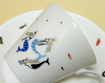 Fairytale Cup and Saucer Set - The Little Mermaid