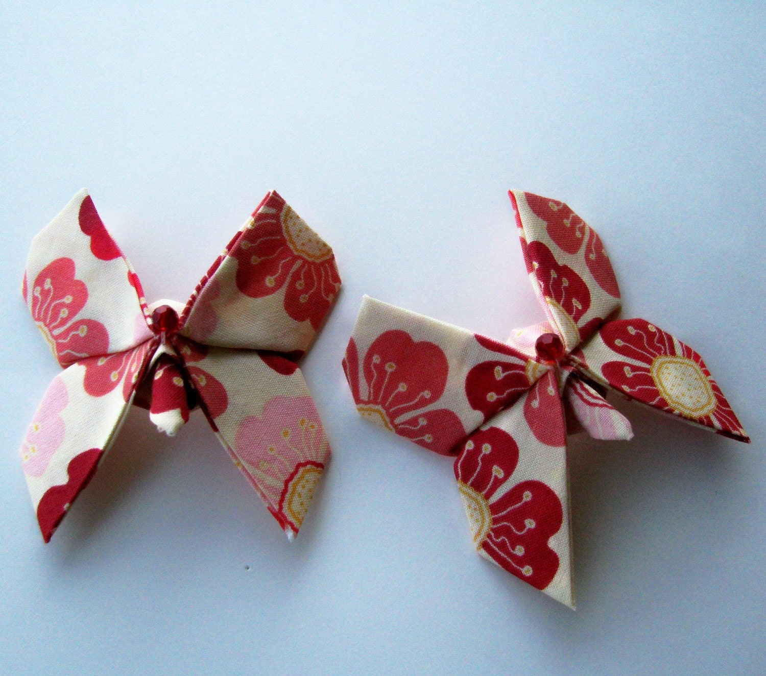 Fabric Origami Butterfly Pair of Fabric Origami...