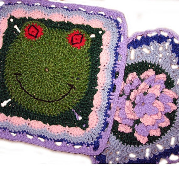 Gidgit The Frog And Lily Pad Granny Square Crochet Pattern 2