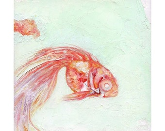 Goldfish, Oil painting reproduction, 8.5x11 Art Print