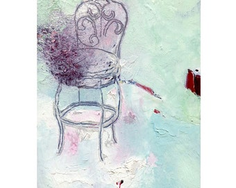 Oil Painting Reproduction, 8x10 Print, Purple Sugar Chair