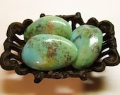 The Trio (Med) Tumbled Turquoise Rock Soap