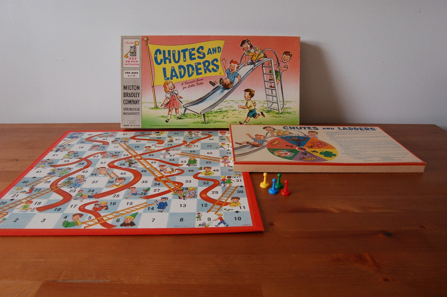 Vintage Chutes And Ladders Board Game 1956 By