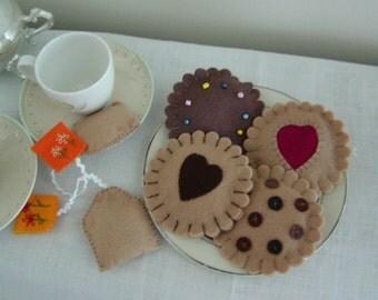 Felt Cookies and Tea