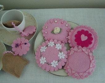 Felt Cookies for Pretend Play, Tea Party Treats