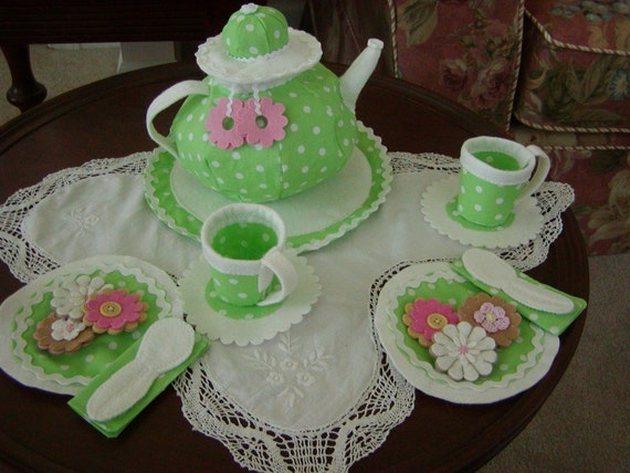 Fabric Tea Party Set for Two