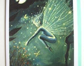 Fairy Greeting Card - of Original painting, Crystal Water Sprite.