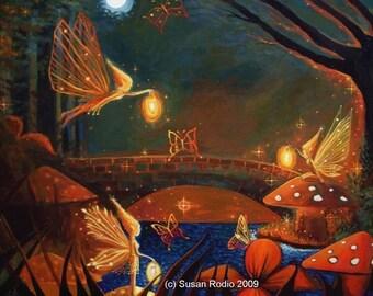 Fairy Gathering - Fairy Art Print  - 7 x 9