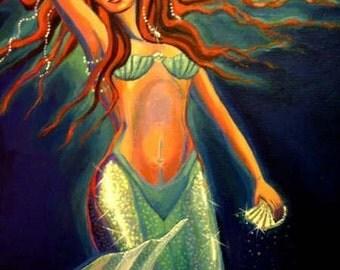 Atlantean Mermaid ACEO - mini print
