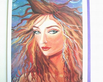 Greeting Card - Twilight Eclipse - from original painting by Susan Rodio