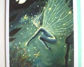 Fairy Greeting Card - of Original painting, Crystal Water Sprite.