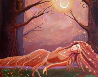 Waiting for a Dream - Fantasy Art Print