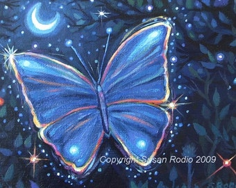 Butterfly Magic - Original Acrylic Painting 5 x 7