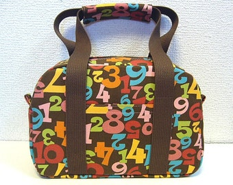 SALE -  Colorful numbers handbag