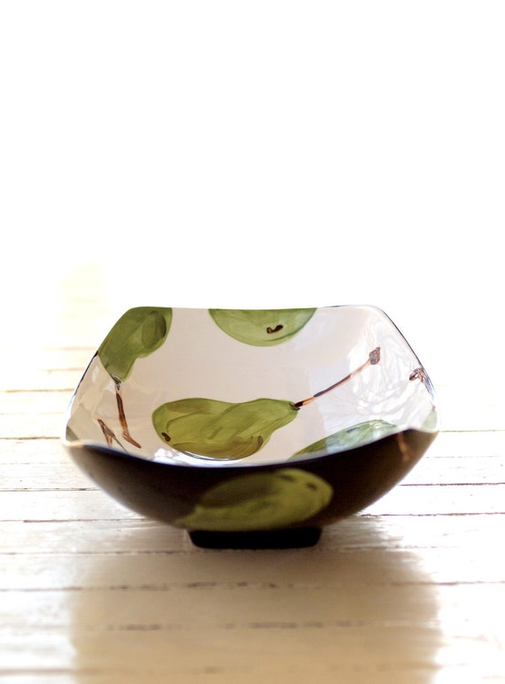 Bowl Serving Bowl Minimalist Serving Bowl Pottery Dish Pear Large Scooped Serving Dish Modern Gift for Chef Hostess Gift Foodie Gift P