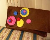 Circles Applique Handbag