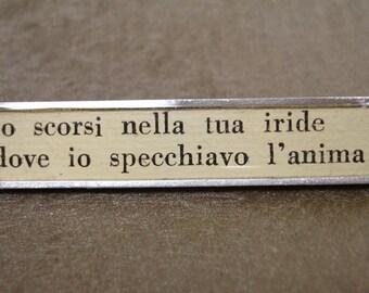 Italian Poetry Sterling Silver Brooch