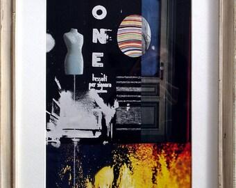 Framed Collage in Italian