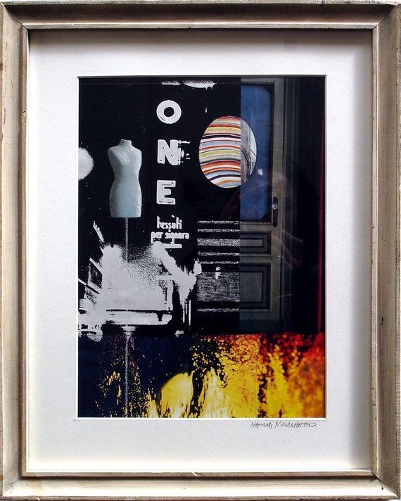 Framed Collage in Italian