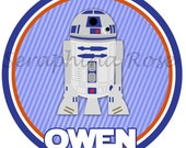 Perfect Personalized STAR WARS - R2D2 - Movie - Siblings - Robot - Any Size Infant or Toddler Onesie or Tshirt