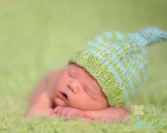 Newborn  Photography Prop -  Baby Knit Hat - Twin Props