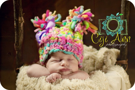 NEWBORN Photography Prop - Baby Knit Hat - Twin Prop