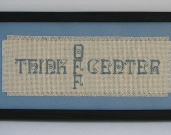 Think Off Center Counted Cross Stitch