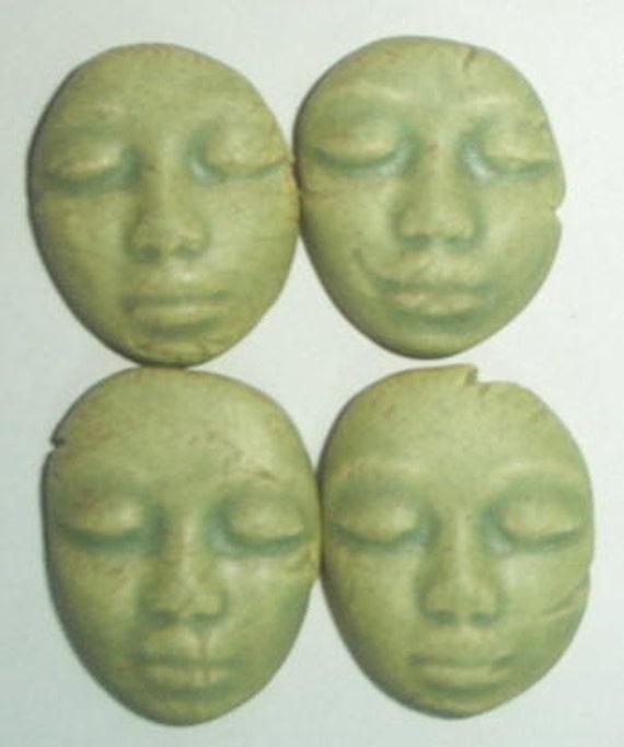 matte green faces