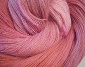 Pixie Petals - Alpaca Lace Weight hand dyed yarn 990 yds.