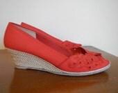 Red Summer Espadrilles size 6