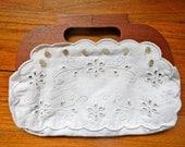 Vintage White Cotton Purse