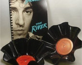 BRUCE SPRINGSTEEN - The River Double - 2 Recycled Record Chip Bowls and Journal Gift Set