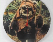 STAR WARS Recycled Record Vinyl Wall Clock - Picture Disc Album - EWOK