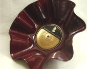 MOZART Classical - Recycled Record Chip Bowl - Burgundy Color Vinyl