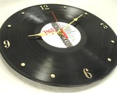 MICHAEL JACKSON Bad - Recycled Record Clock