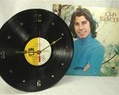 JOHN TRAVOLTA 1970s - Recycled Record Clock