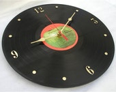 The BEATLES 1962-1966 (Red Album) - Recycled Vinyl Record Wall Clock