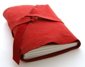 Be My Valentine, A Handmade Red Leather Journal