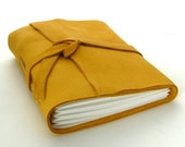 You Are My Sunshine, A Handmade Yellow Leather Journal