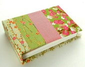 One Of A Kind Handmade Book, Small Spring Patchwork Note Keeper