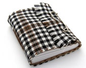 Scottish Kilt Plaid Journal and Sketchbook in Black and White Tartan