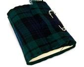Blackwatch Tartan Scottish Kilt Journal and Sketchbook in Green, Black, and Blue