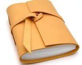 Handmade Leather Journal and Sketchbook in Warm Honey READY TO SHIP