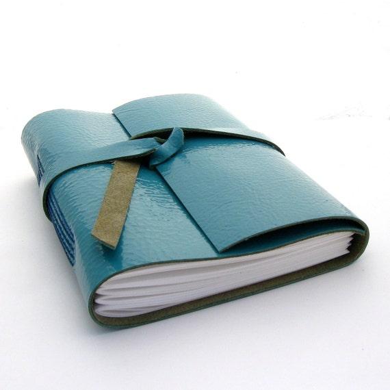Handmade Leather Journal, The Traveler in Azure Blue
